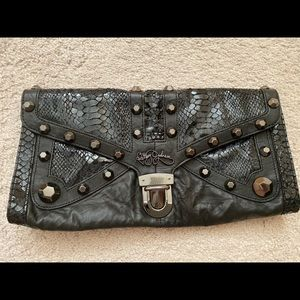 Betsy Johnson real leather clutch!